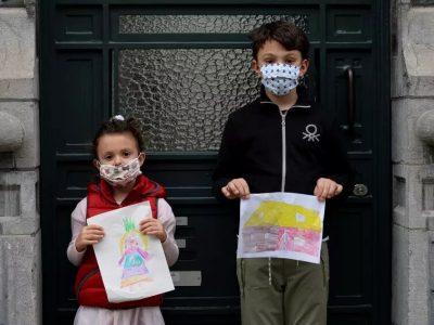 ماریه بلنیسی، ساله ساله و پائولو بلنیسی 9 ساله از بروکسل- عکاس، جوانا گرن